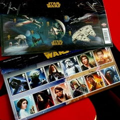 Royal Mail Star Wars stamps - 18 stamps