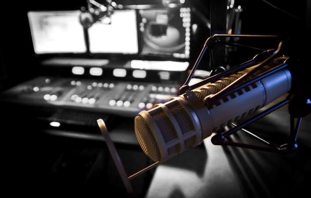 Empty radio studio