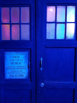 Doctor Who Experience Blue doors