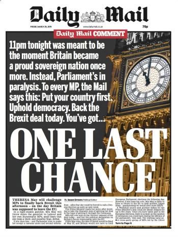 Daily Mail, 29 March 2019