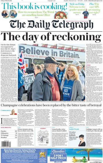 The Daily Telegraph, 29 March 2019