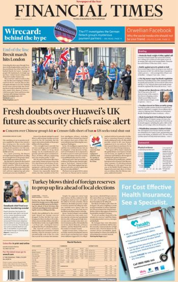 Financial Times, 29 March 2019