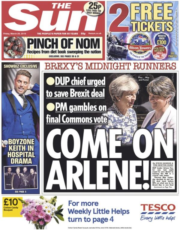 The Sun, 29 March 2019
